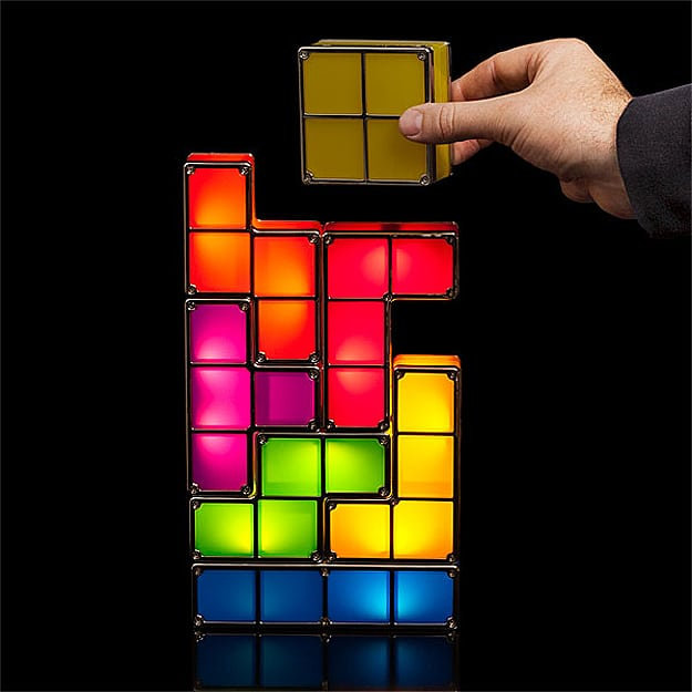 Light Up '80s Style: The Stackable Tetris LED Desk Lamp