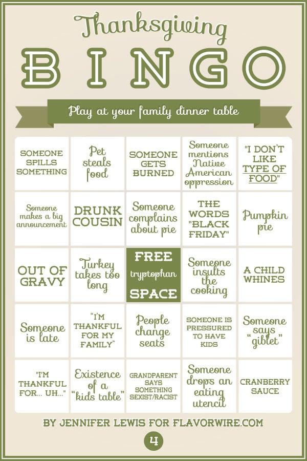 Turkey Bingo: A Fun Thanksgiving Game To Print & Play Today