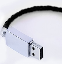 Leather USB Bracelet: Take Your Special Memories With You