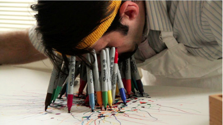 Bleeding Sharpie Markers Art Created In The Most Bizarre Way