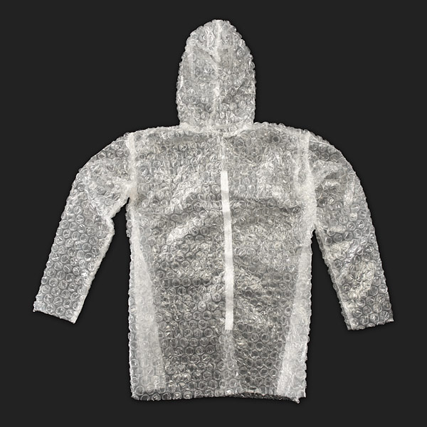 Bubble Wrap Suit Is Perfect For A Stressful Rainy Day