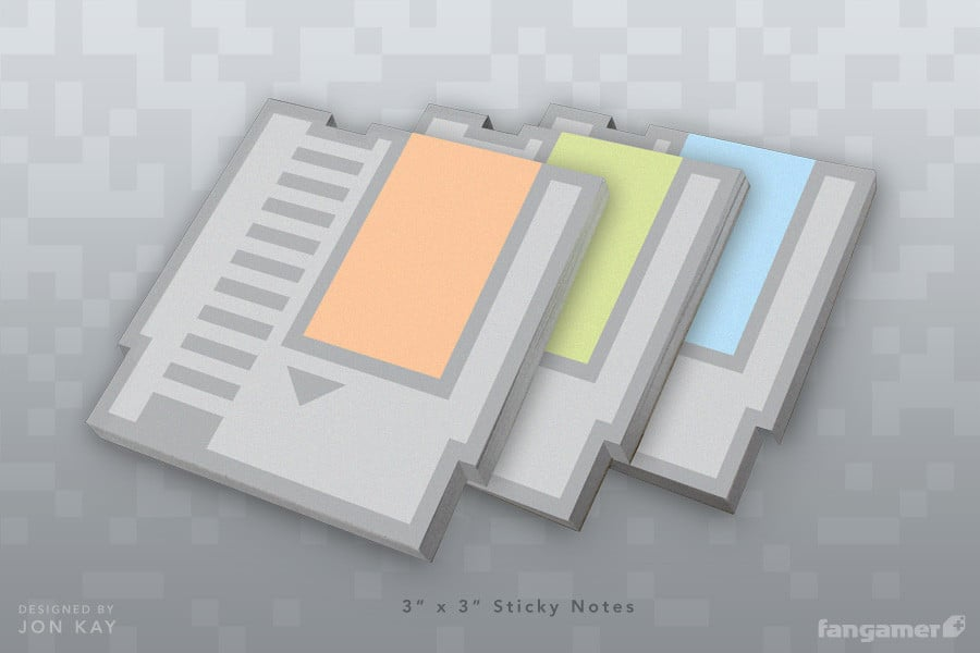 Creative Post-It Notes Now As Nintendo NES Cartridges