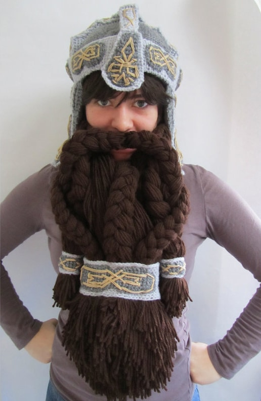 Epic Crocheted Dwarven Helmet To Keep You Warm