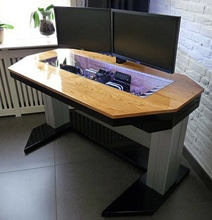 Adjustable Custom Computer Desk Mod Fit For A True Geek