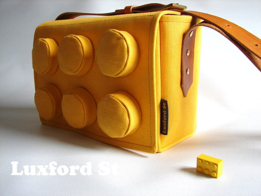 The Denim LEGO Block Inspired Handbag For Geek Girls With Style