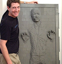 Mind-Twisting Han Solo Frozen In Carbonite LEGO Build