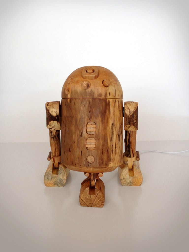 Dock The Jedi Way With The R2-D2 Wooden iPhone Dock