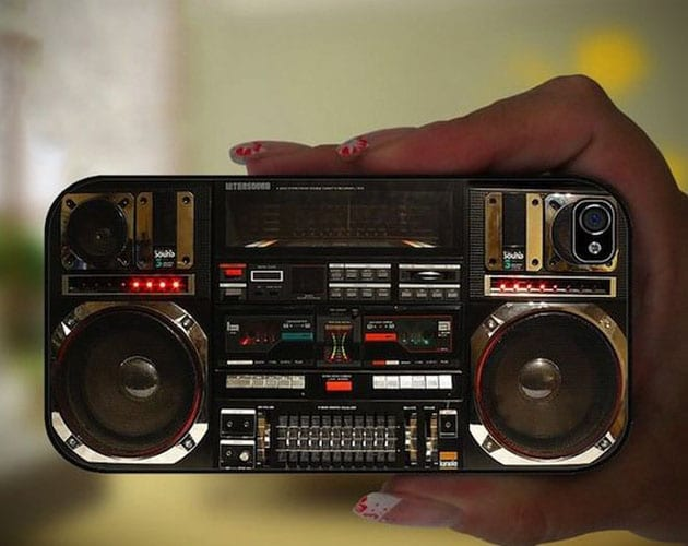 Impressively Intricate Boombox Retro Case For The iPhone 5
