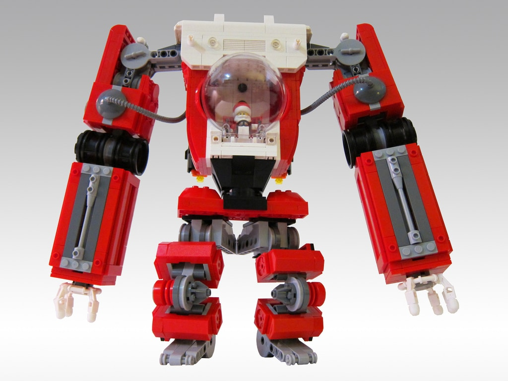 Santa LEGO Mech To Separate The Naughty From The Nice