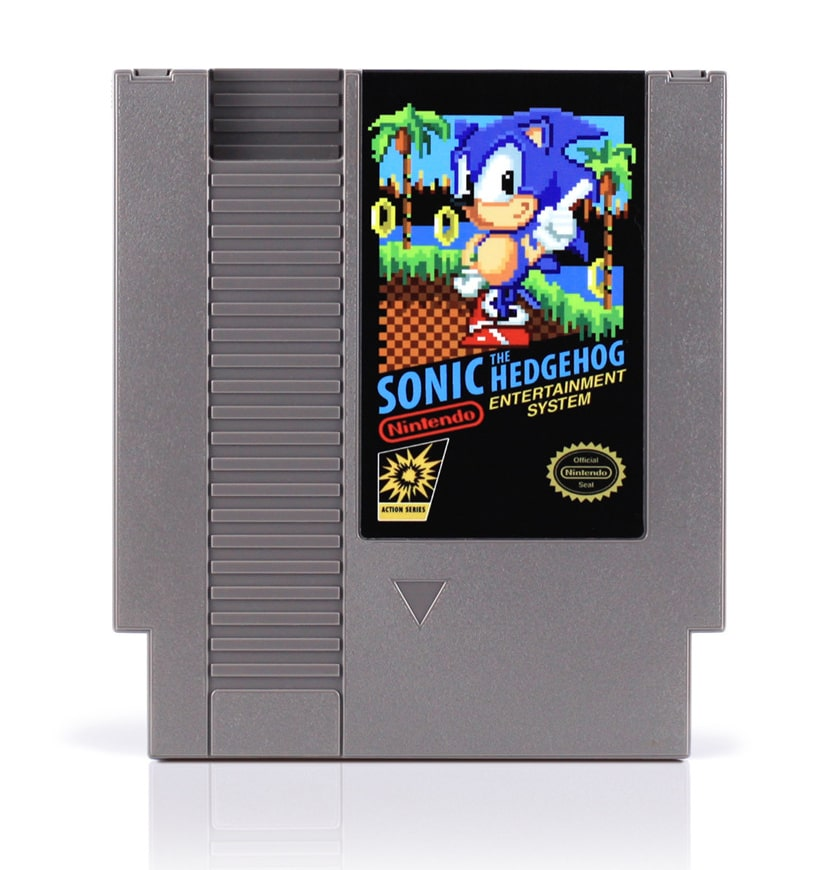 sonic-nes-cartridges-recycled-art