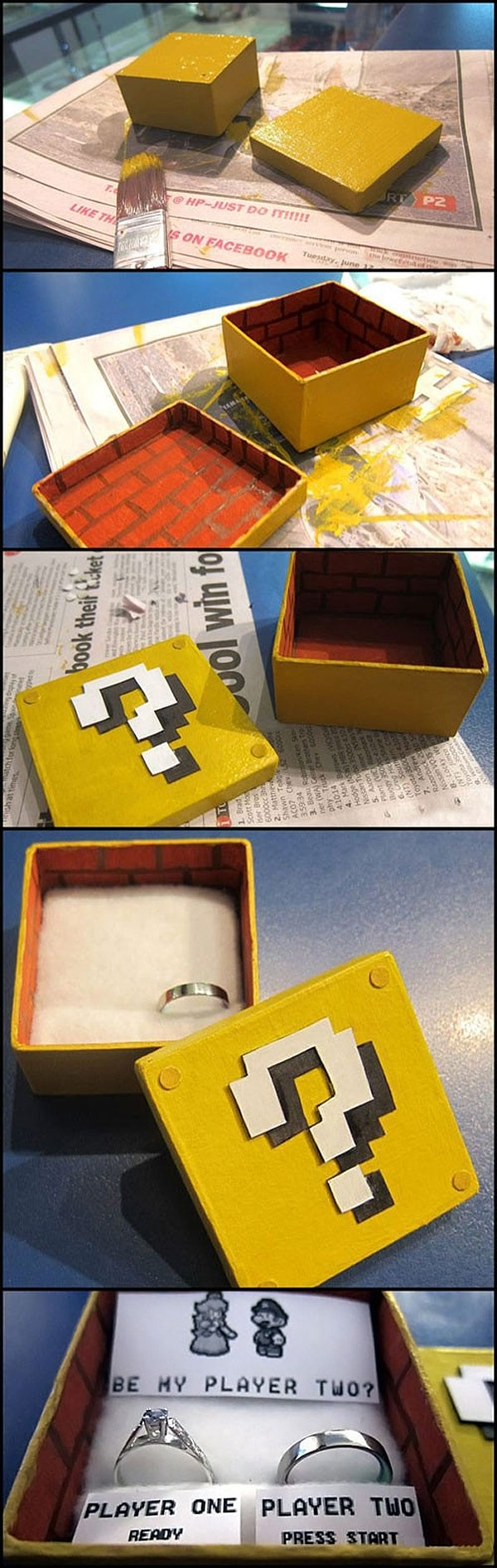 Be My Player Two: The Geeky Super Mario Marriage Proposal