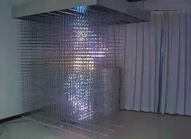 LED Curtain Displays Incredible 3D Light Shows