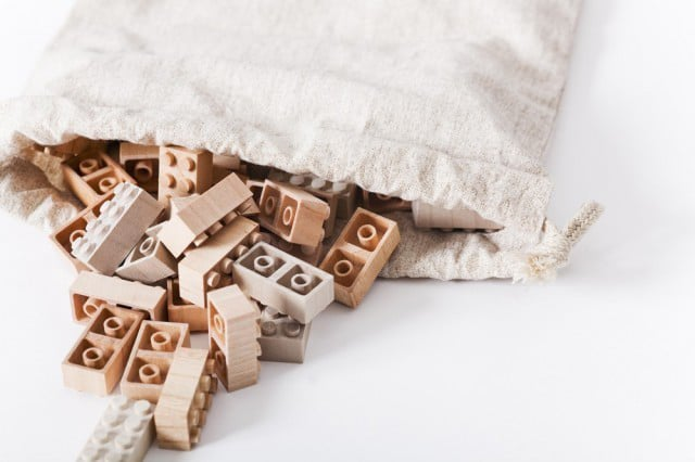 Tranquil Wooden LEGO Bricks Combine Nature & Geek