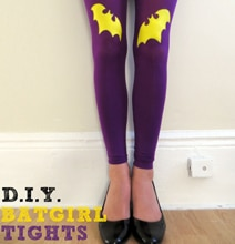 DIY Batgirl Tights: Show The World Your Superhero Style