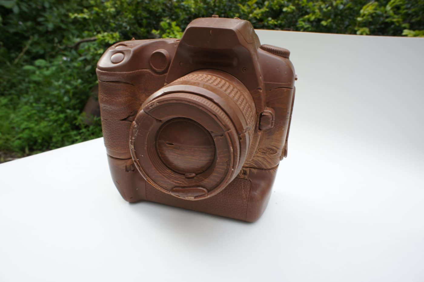 Canon D60 Camera (With Battery Grip) Created Out Of Solid Chocolate
