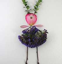 Flower Art: Dainty Flower Girls Made From Pieces Of Plants & Flowers