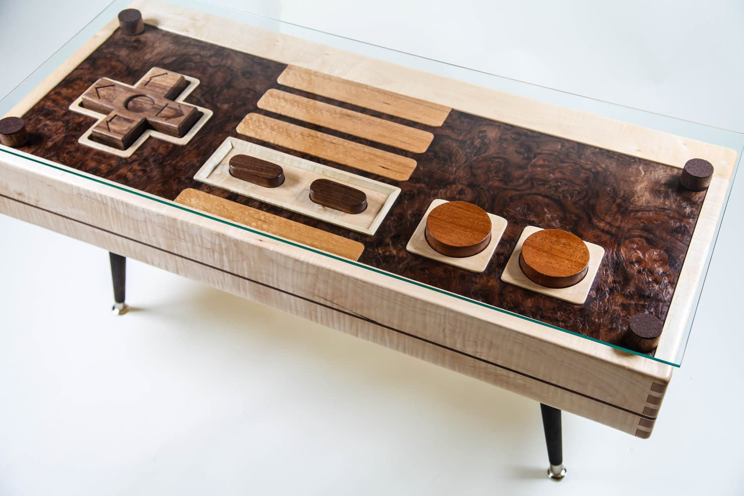 Functional Wooden NES Controller Coffee Table Available For $3,700