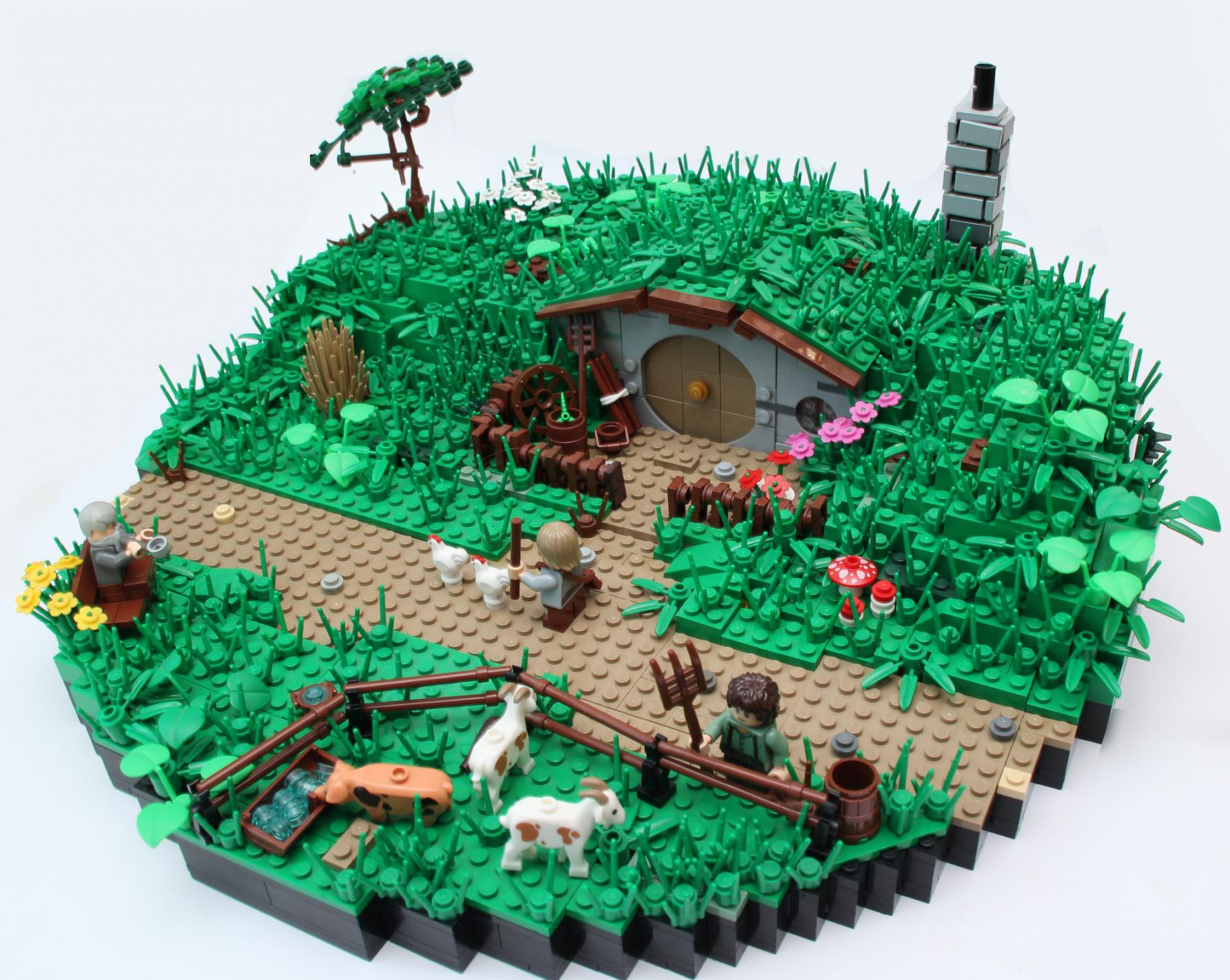 Hobbit Hole LEGO Build Goes Far Beyond The Realm Of The Block