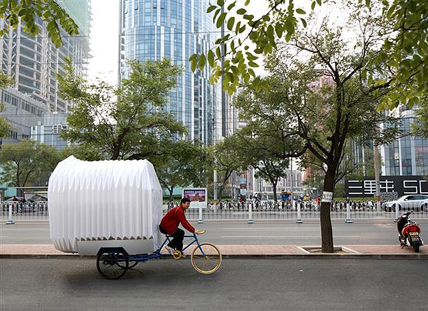 Portable House Big Enough For 2 People Fits On The Back Of A Tricycle