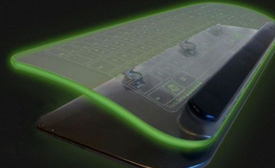 Futuristic Glass Keyboard To Illuminate Your Desk In 2013