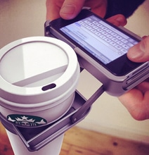 iPhone Cup Holder Case Holds Your Coffee Cup While You Text