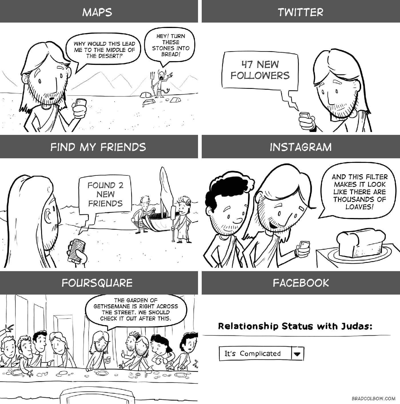 If Jesus Had An iPhone & Joined Twitter [Comic]