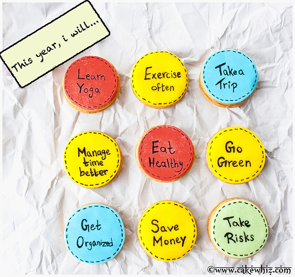 That's One Way To Remember Them…New Year Resolutions Cookies