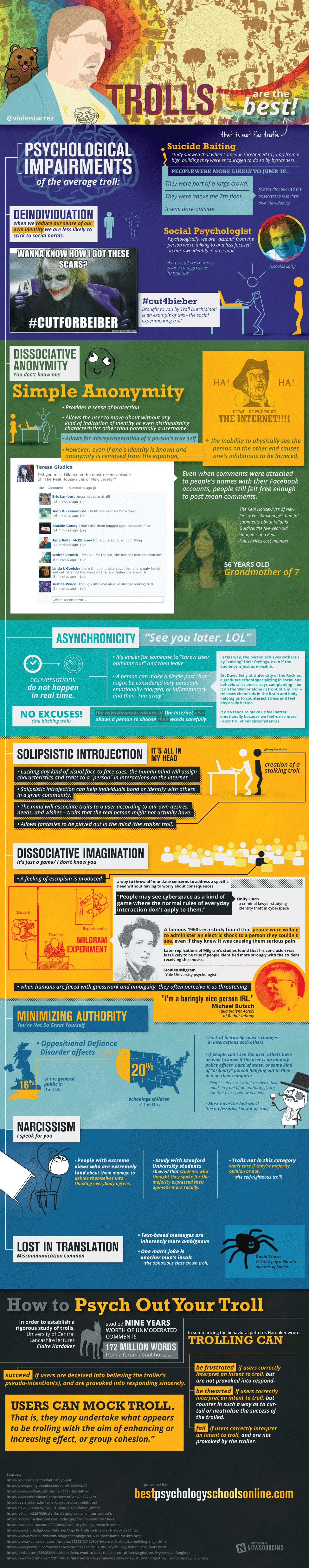 The Psychology Behind An Internet Troll [Infographic]