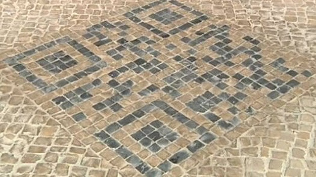 Sidewalk Design To Provide QR Codes With Tourist Information