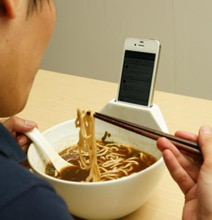Ramen Bowl iPhone Dock Enables Dinner FaceTime Companionship