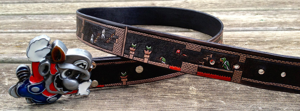 Retro Super Mario Belt Wraps An Entire Level Around Your Waist