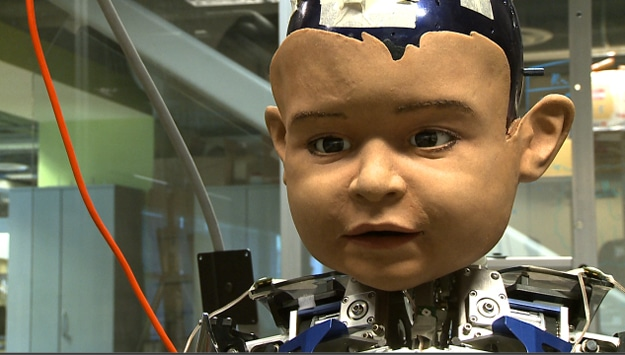 Humanoid Robot Boy Expresses Emotions & Develops Relationships