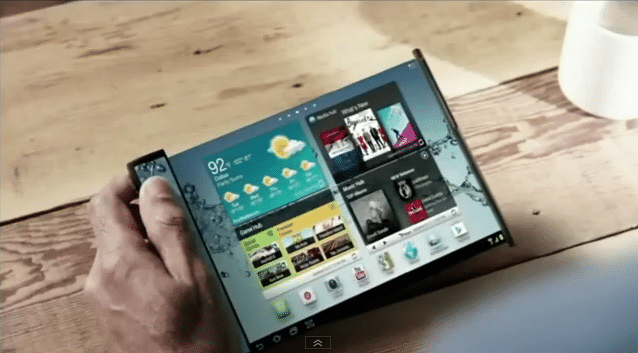 Flexible Display Gadget Yuom Showcased At CES 2013