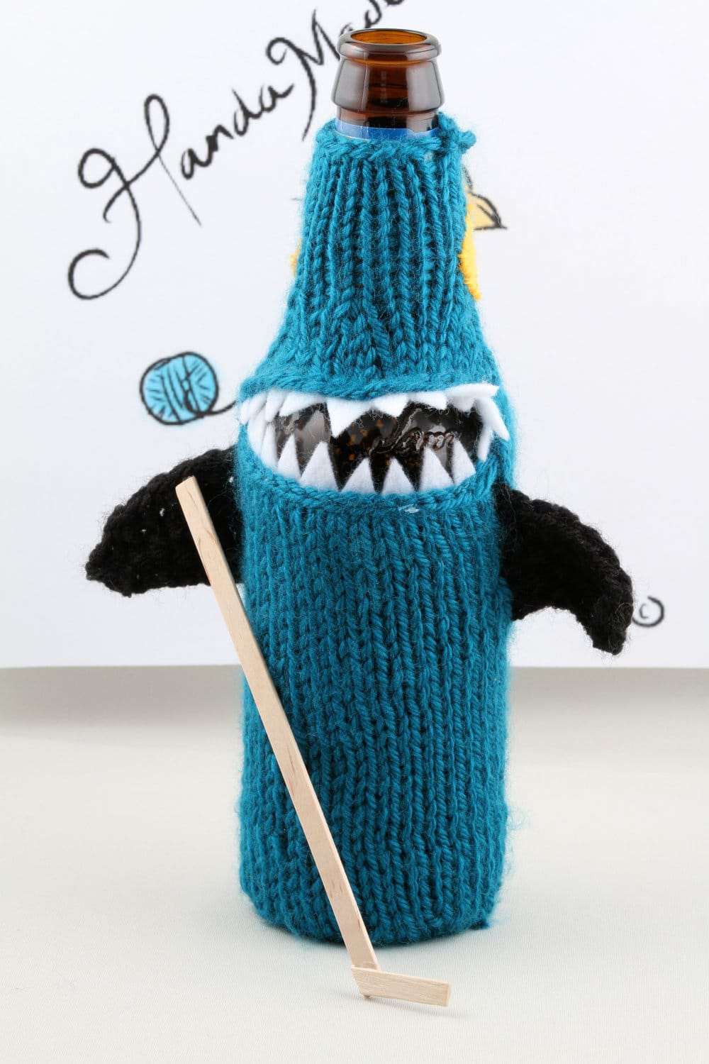 Shark Costume For Your Beer Bottle: The Koozie With Attitude