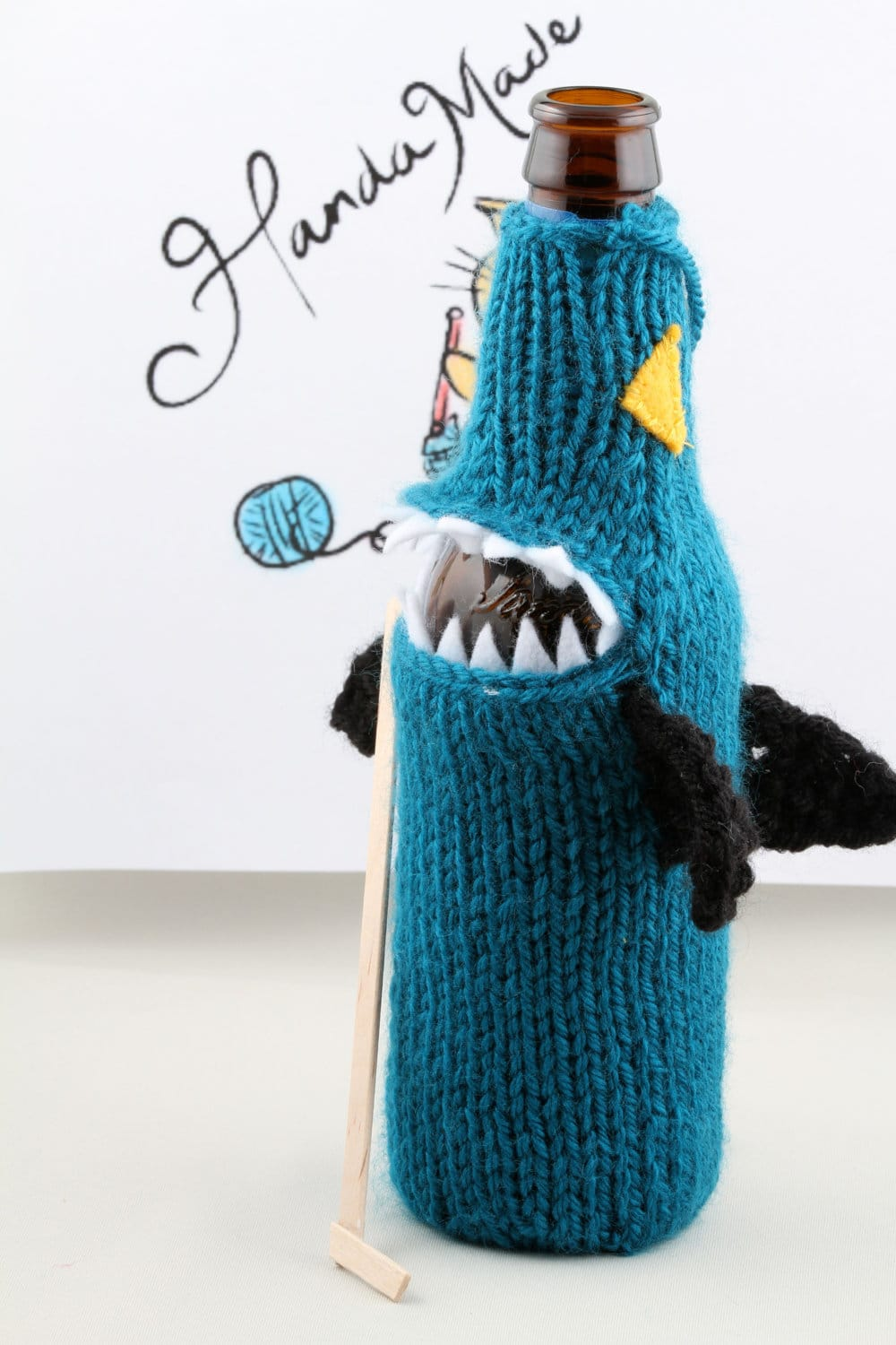 shark-costume-beer-bottle-koozie