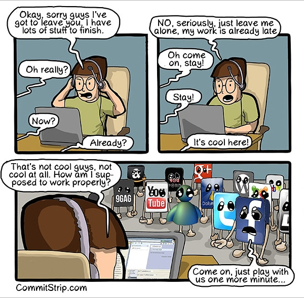 The Enticing & Alluring Effects Of Social Media [Comic]