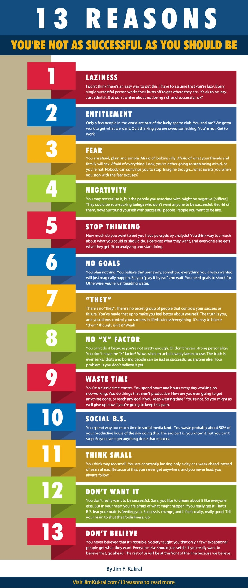 Successful Thinking: 13 Reasons Why You Are Failing [Infographic]