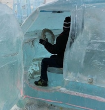 You Don't See This Everyday: Full Size Toyota Land Cruiser Ice Carving