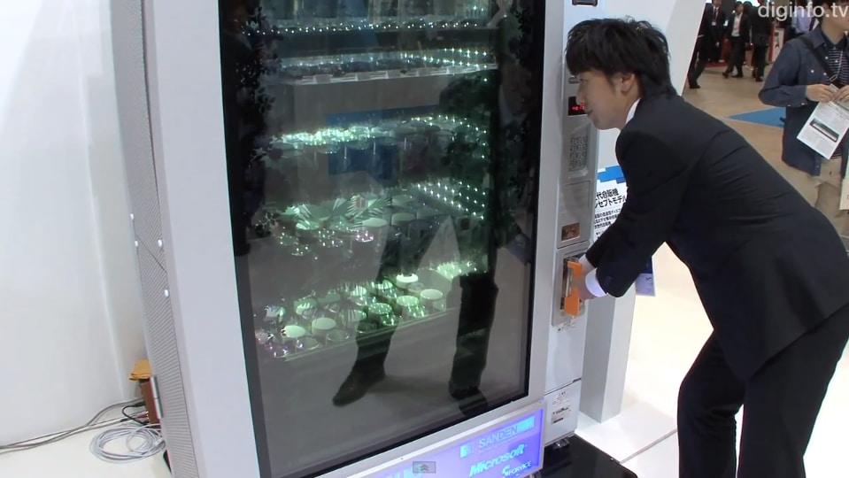 Transparent Touchscreen Vending Machine Remembers You