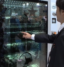 Transparent Touchscreen Vending Machine Remembers You