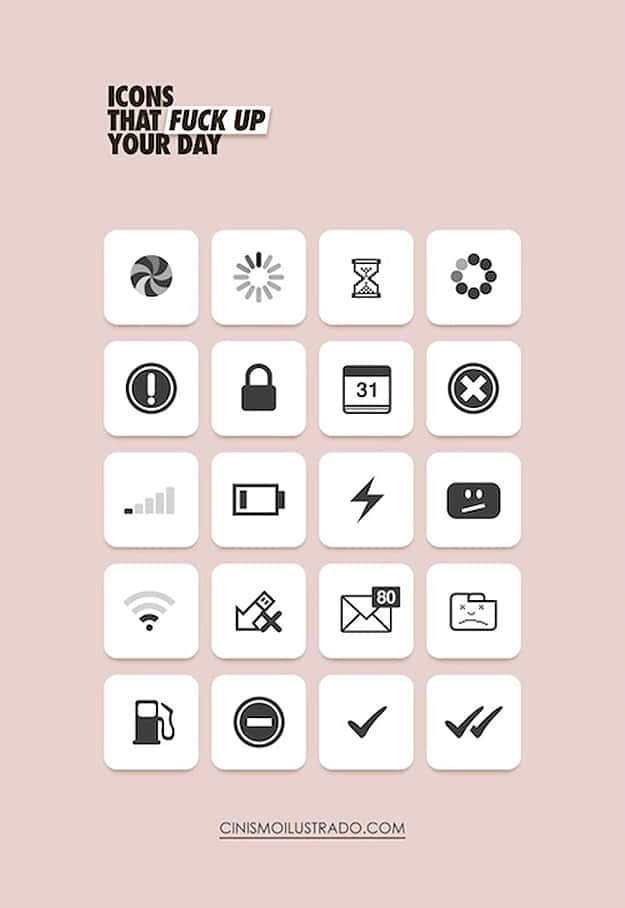 Common Icons That Always F-ck Up Your Day
