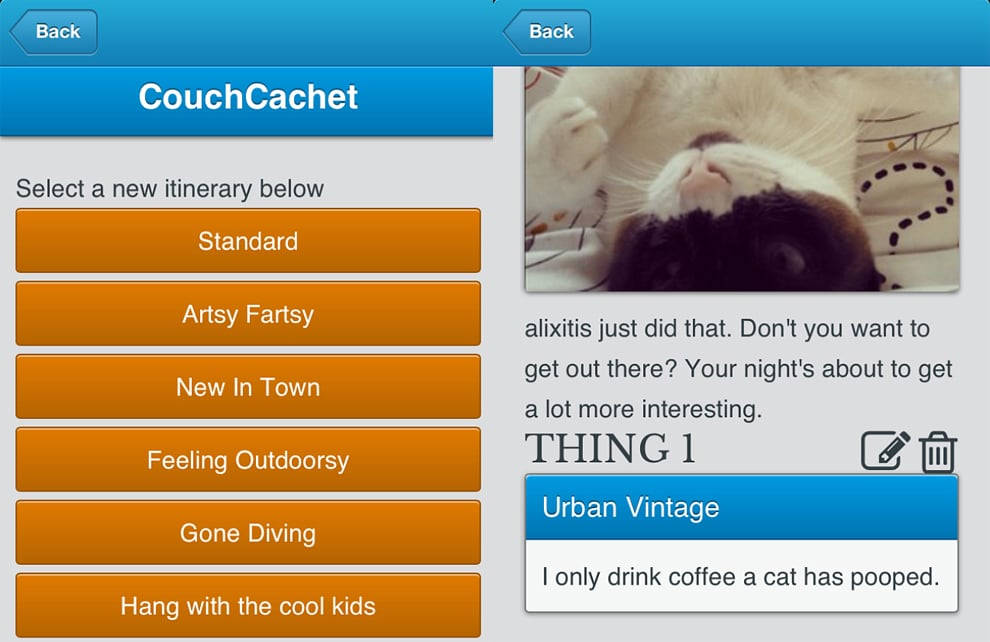 CouchCachet Tweets Your Fake Exciting Life If You Don't Have One