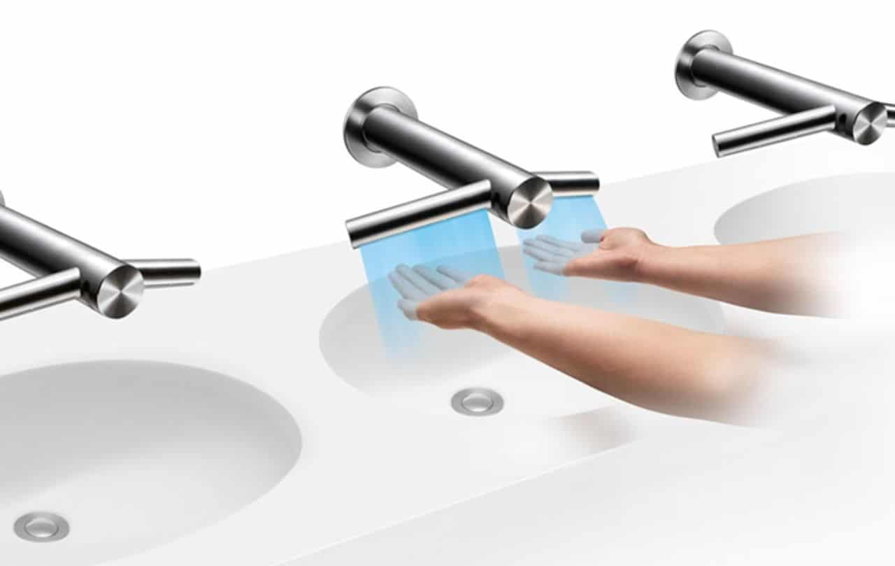 dyson airblade tap optimizes our entire hand washing drying process. Black Bedroom Furniture Sets. Home Design Ideas
