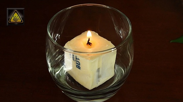 Lifehack: How To Make An Emergency Candle From Butter & Toilet Paper