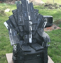 Throne Of Nerds: Game Of Thrones Tribute Made From Computer Keyboards