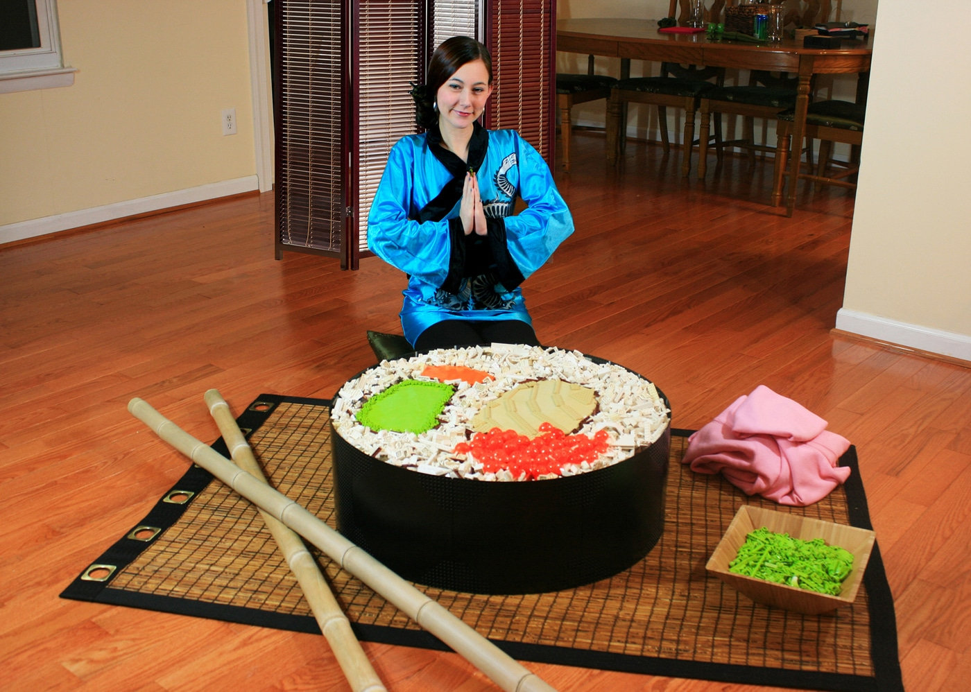 LEGO Sushi: One Giant Sushi Roll Created Entirely From LEGO