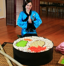 LEGO Sushi: One Giant Sushi Roll Created Entirely From LEGO
