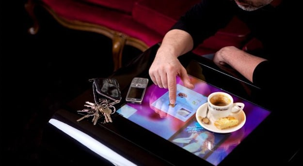 Order Dinner From A Touchscreen Menu Embedded In Your Restaurant Table