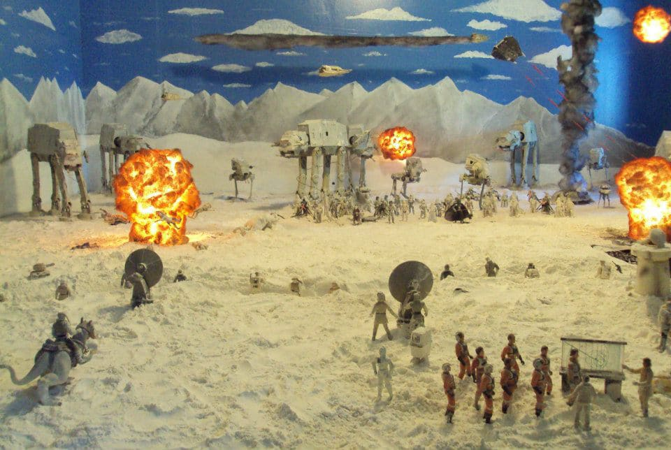 Guy Recreates Battle Of Hoth (Complete With Explosions) In His House
