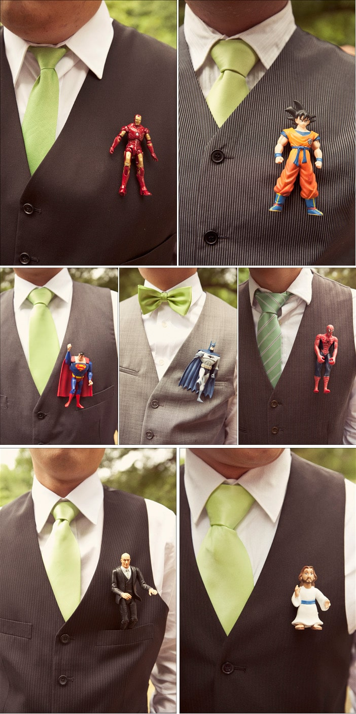 wedding-groomsman-superhero-accessory-boutonnieres